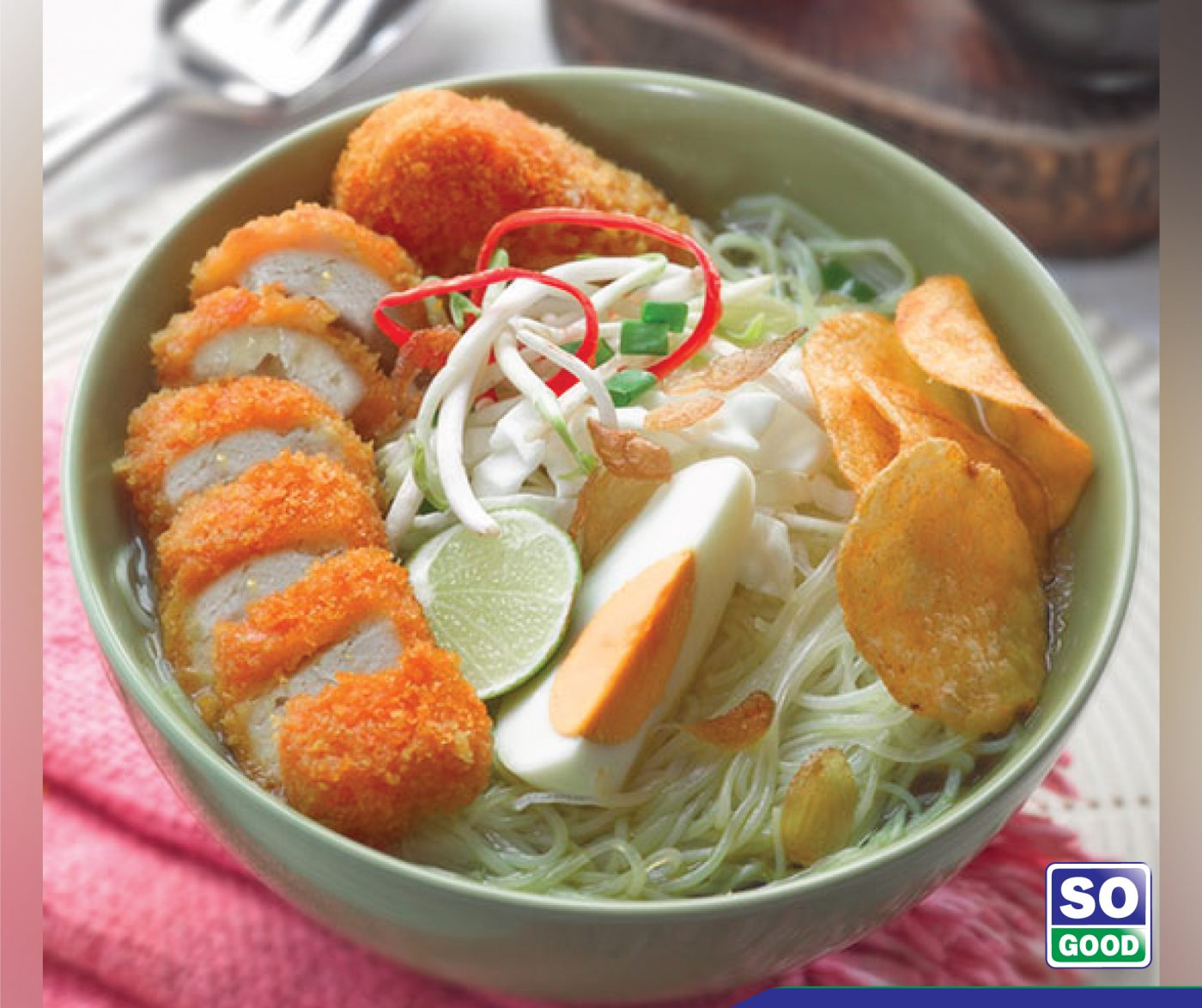 image Soto Ayam With So Good Chicken Nugget