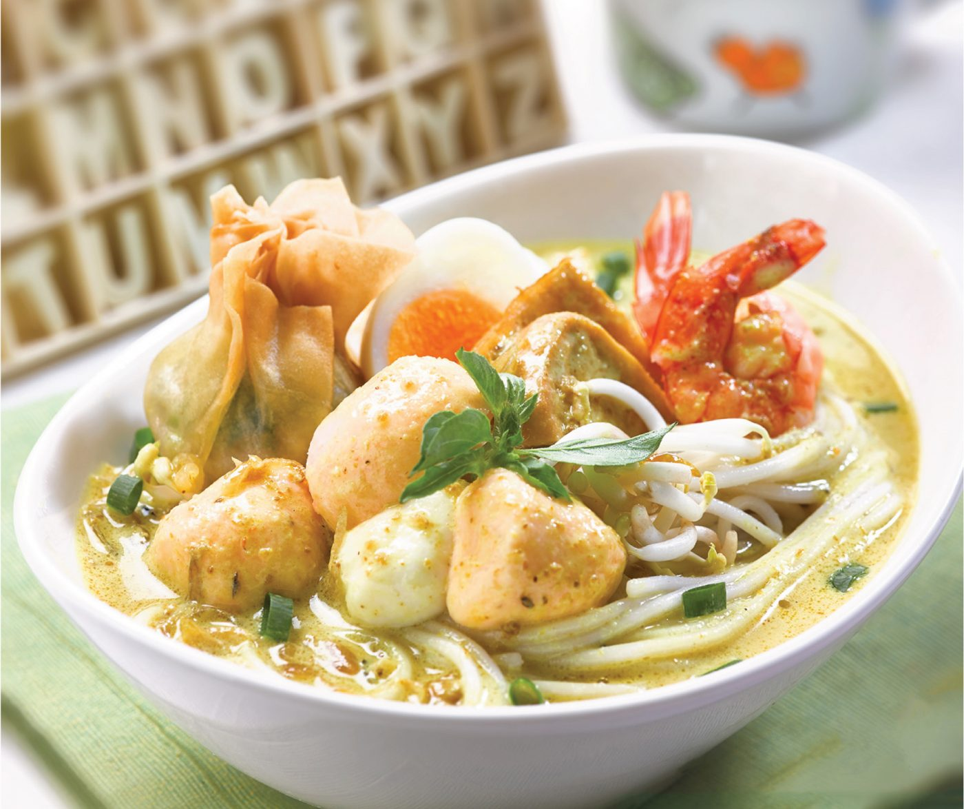 image Seafood Laksa With So Good Bakso Ikan