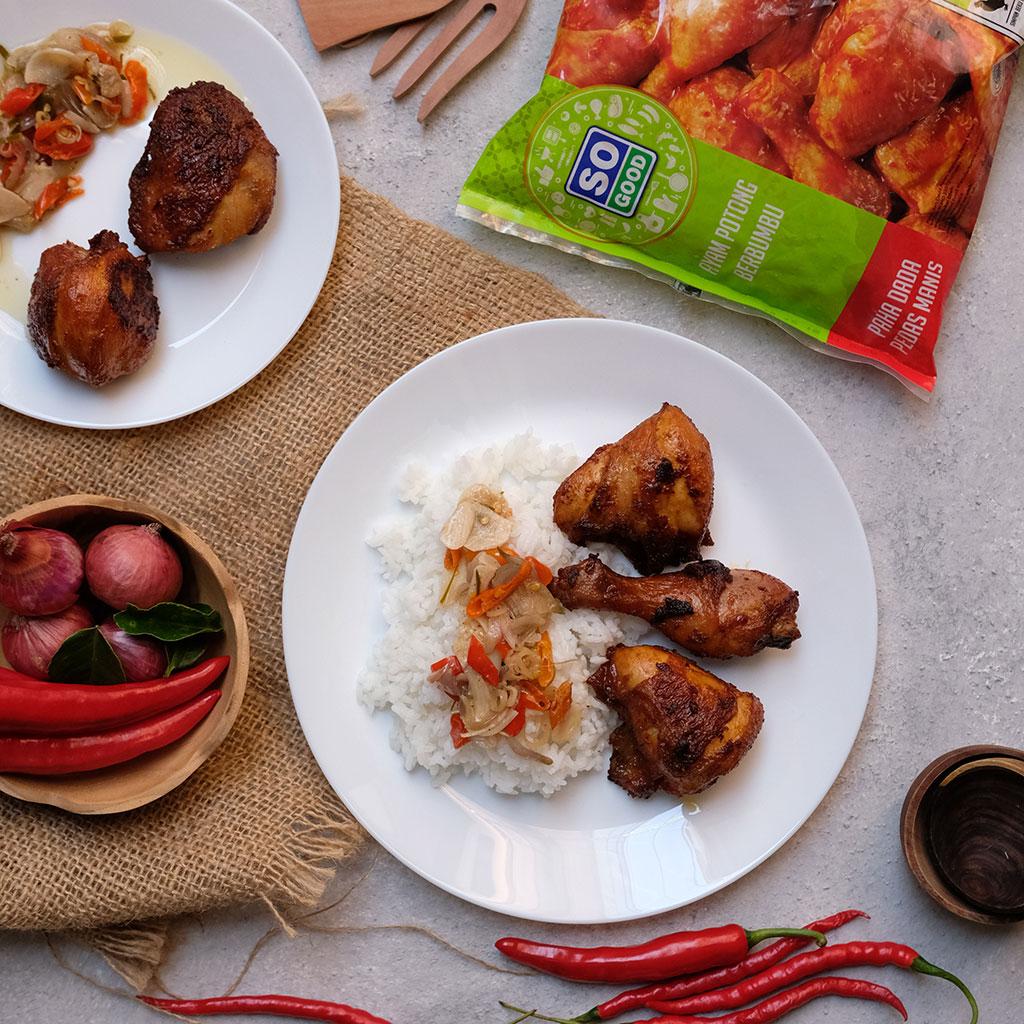 Image Ayam Goreng Pedas Manis Sambal Matah
