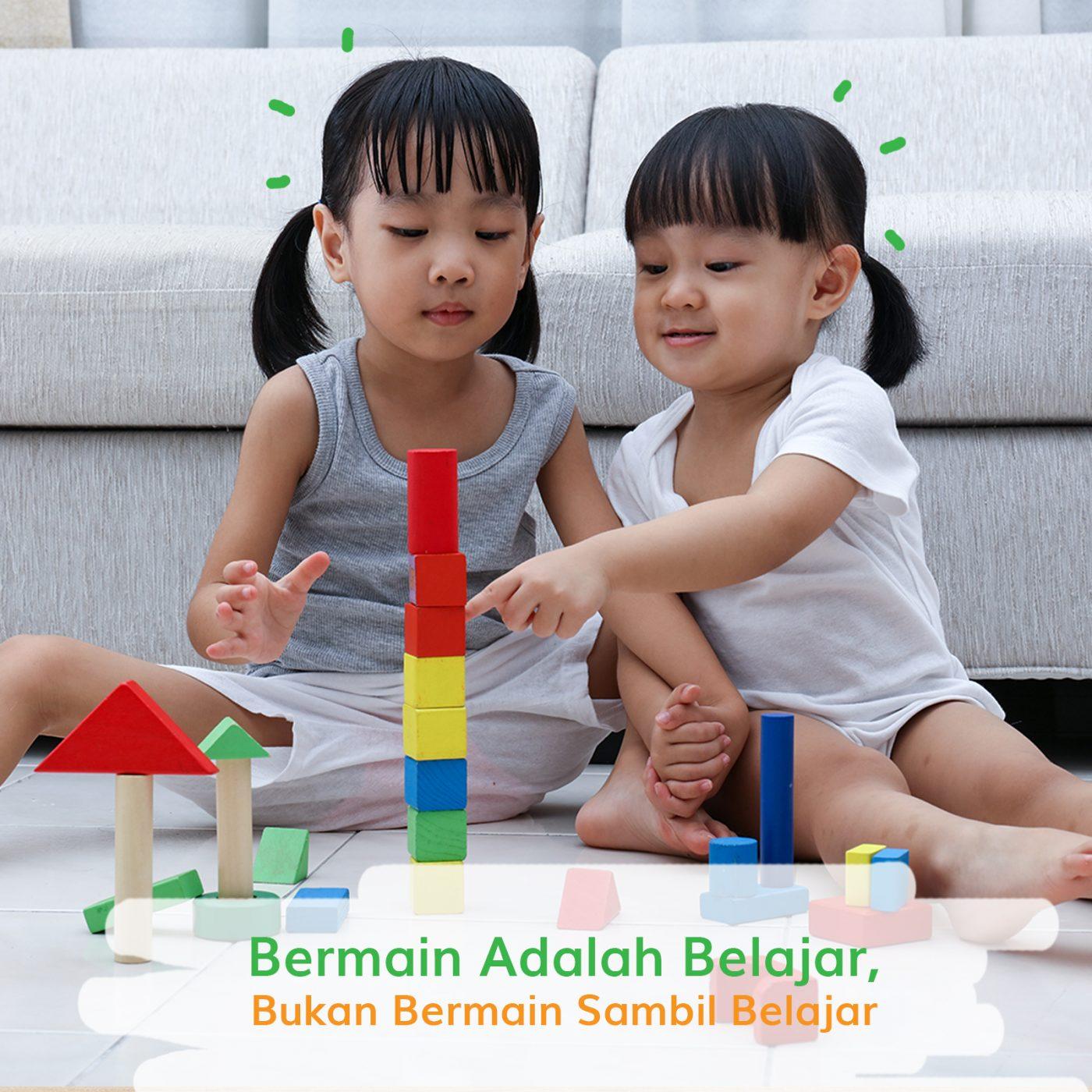 Image BERMAIN ADALAH BELAJAR BUKAN BERMAIN SAMBIL BELAJAR