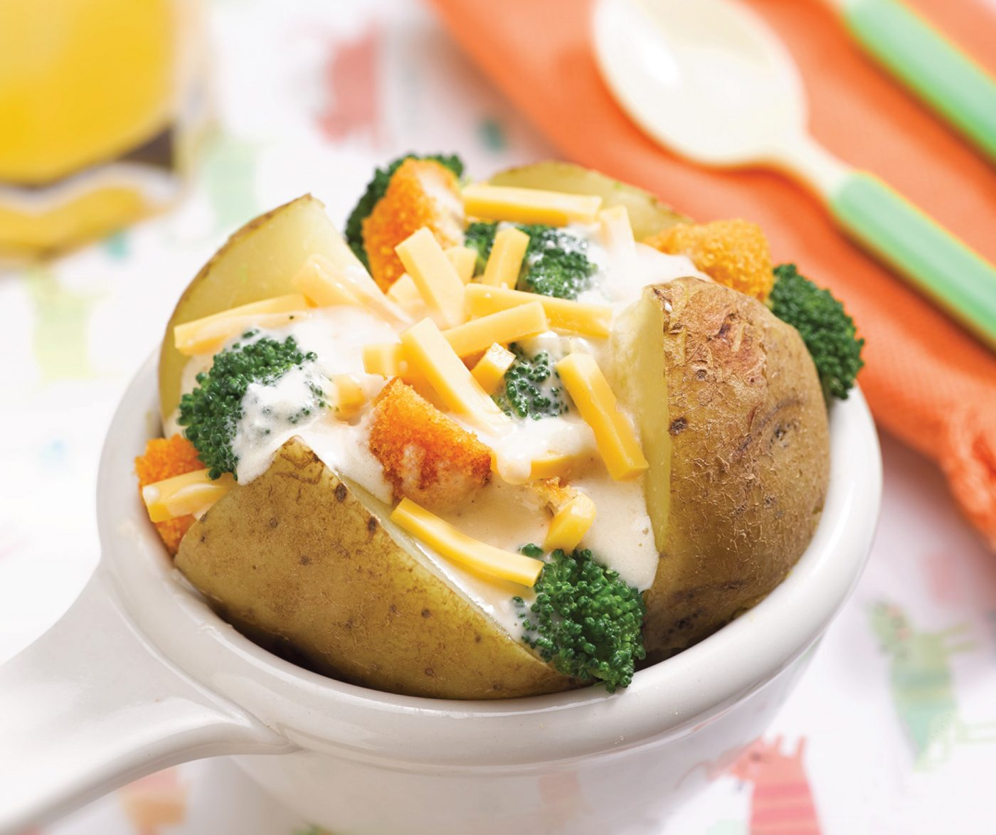Image Cheese Jacket Potato With So Good Chicken Stick