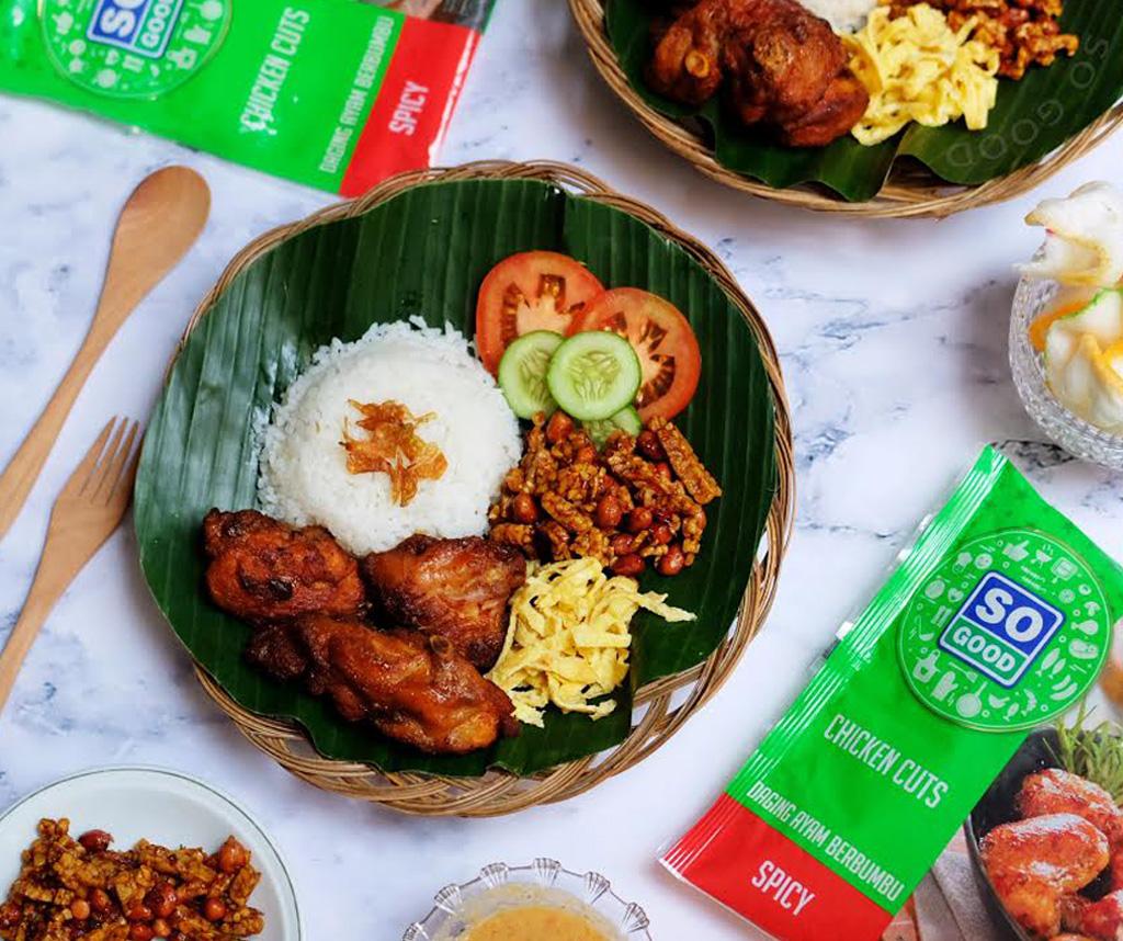 Image Nasi Uduk dengan Ayam Goreng