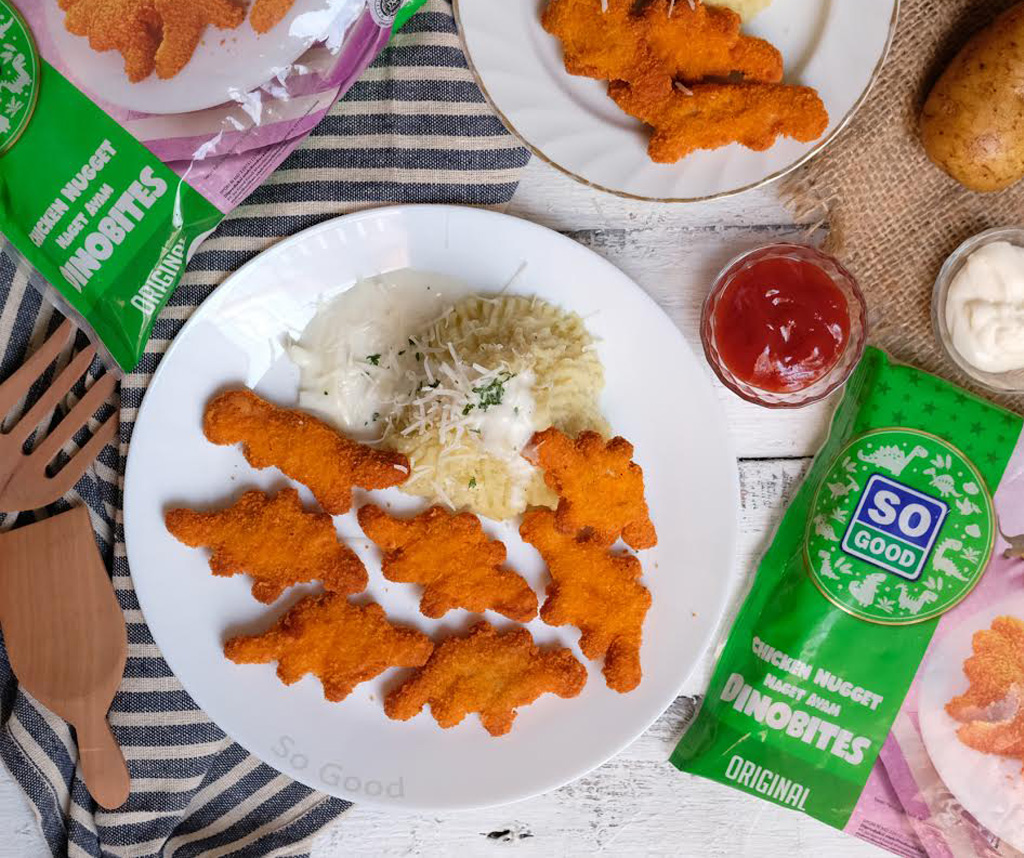 Image Nugget Dino With Potato Cream Sauce