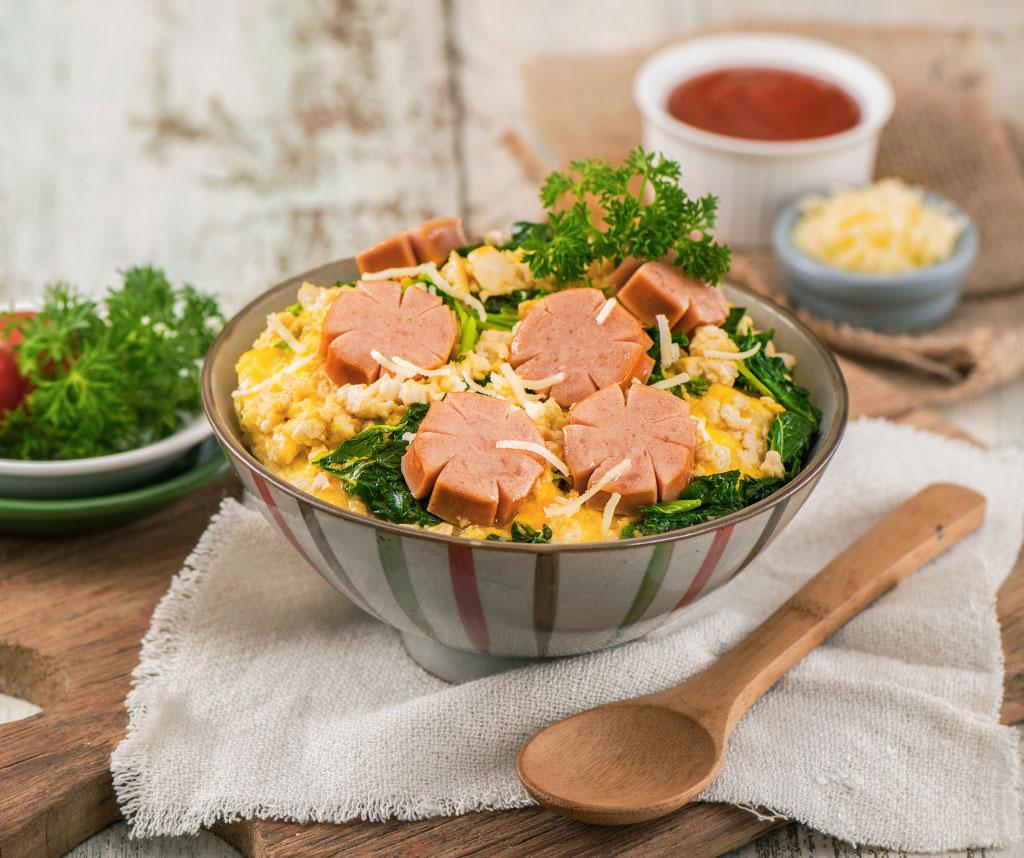 Image Premium Sausage Rice Bowl with Tahu Telur
