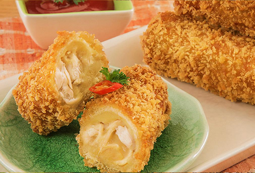 Image Roti Gulung Ayam Keju