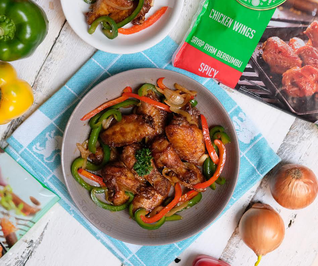 Image Spicy Chicken Wing Tumis Paprika