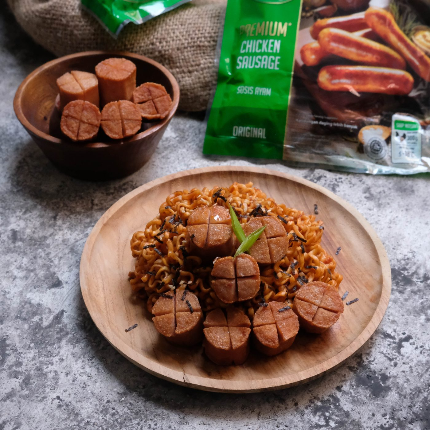 Image Spicy Noodle with Premium Sausage Original