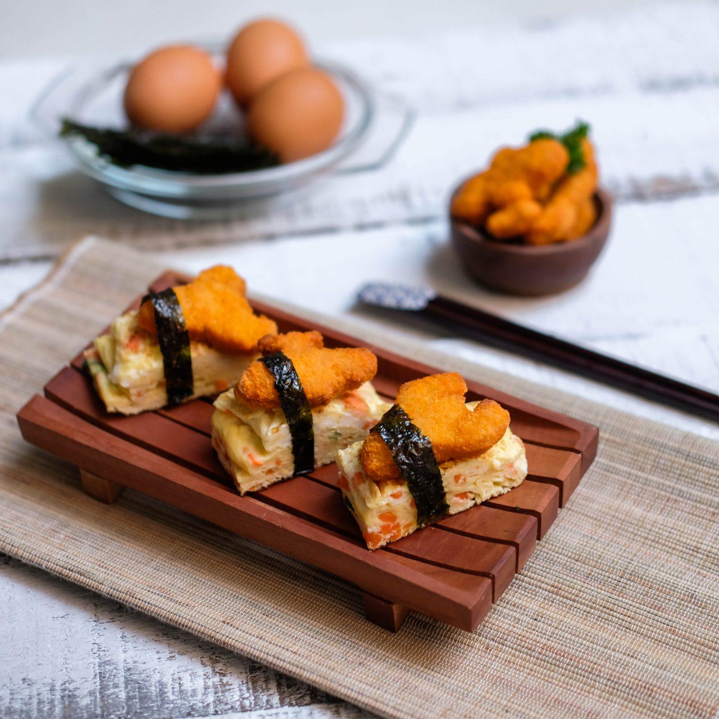 Image Telur Gulung Jepang dengan Nugget Jetz