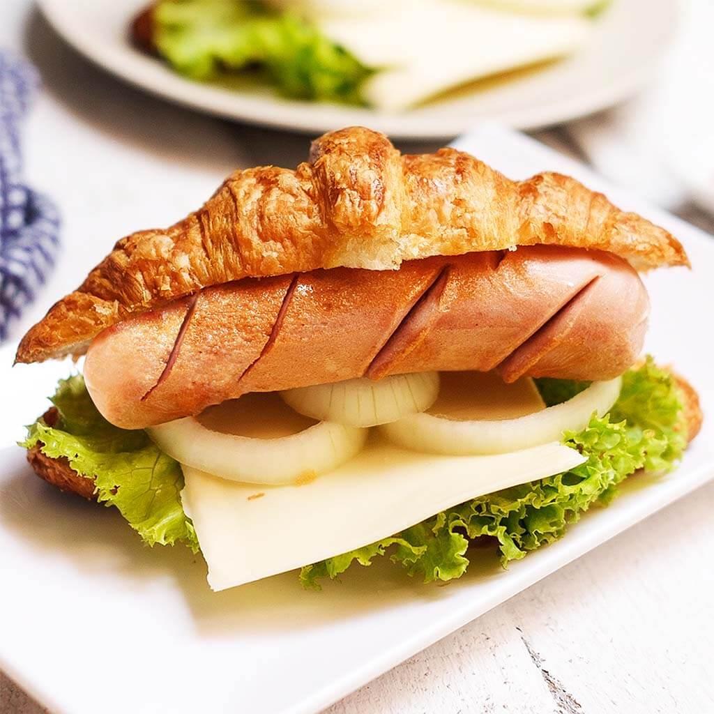 Image Croissant with So Good Premium Sausage Garlic