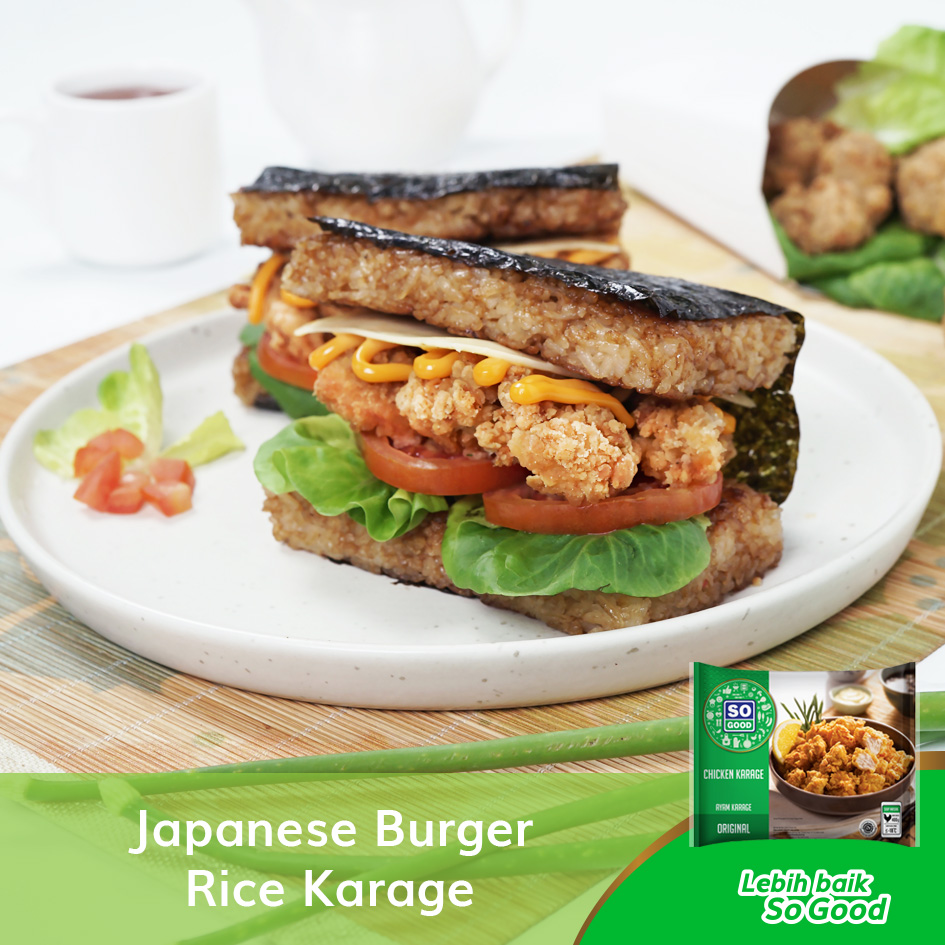 Image JAPANESE BURGER RICE KARAGE