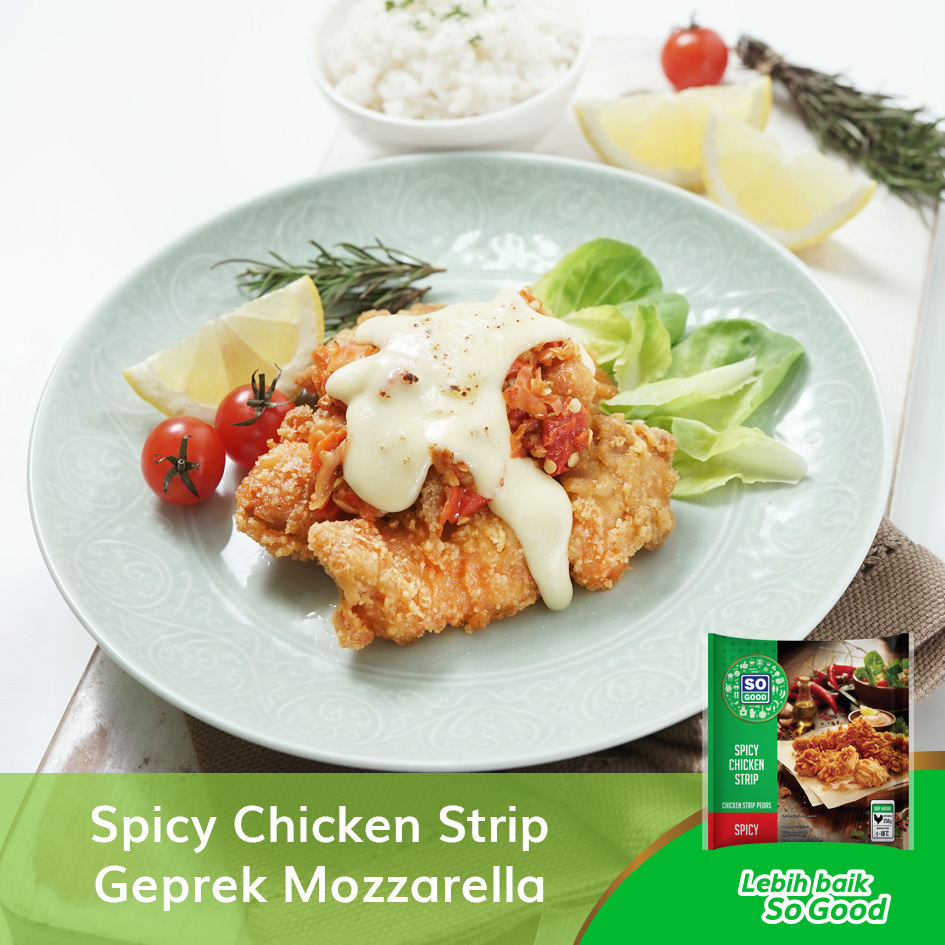 Image So Good Spicy Chicken Strip Geprek Mozzarella