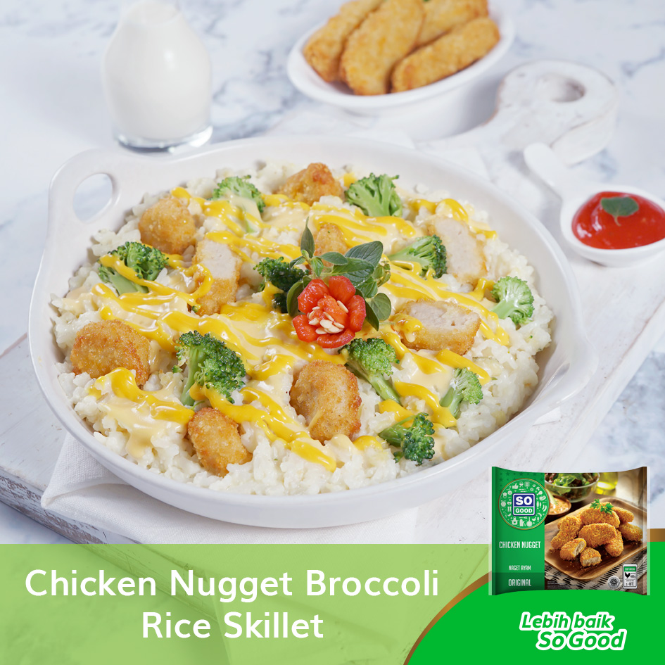 Image Chicken Nugget Broccoli Rice Skillet