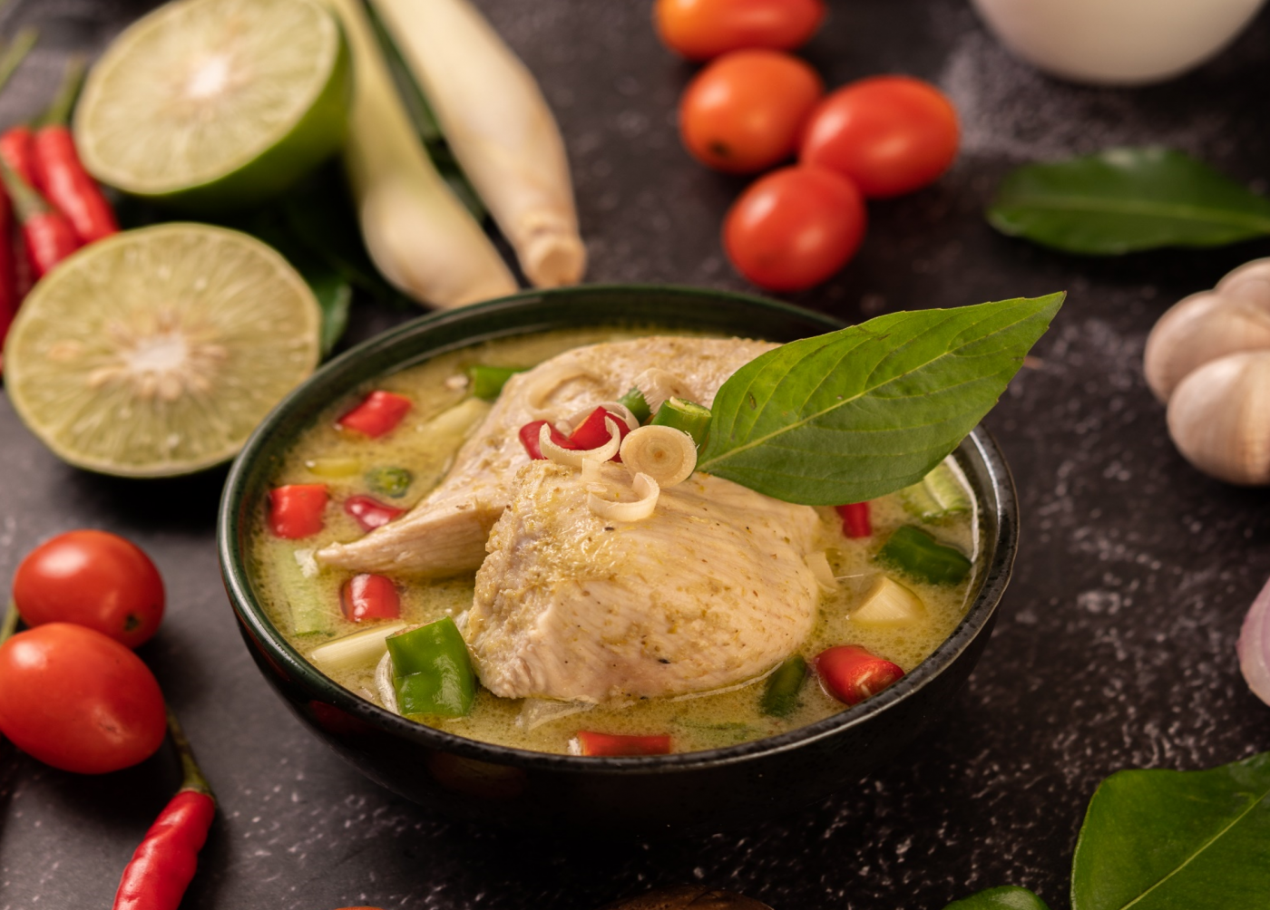 Image Resep Green Chicken Curry